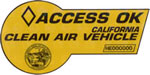 Clean air sticker